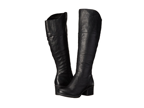Naya - North Wide Shaft (Black Wide Shaft Leather) Women's Pull-on Boots