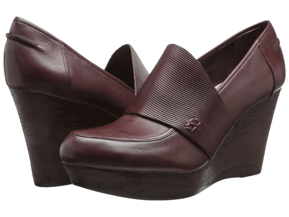 Naya - Othello (Classic Cordovan Leather/Embossed Leather) Women's Wedge Shoes