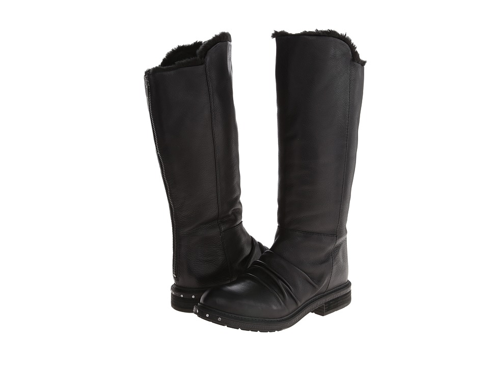 Naya - Raptor (Black Leather/Fur Lining) Women's Pull-on Boots