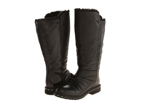Naya - Raptor Wide Shaft (Black Wide Shaft Leather/Fur Lining) Women's Pull-on Boots