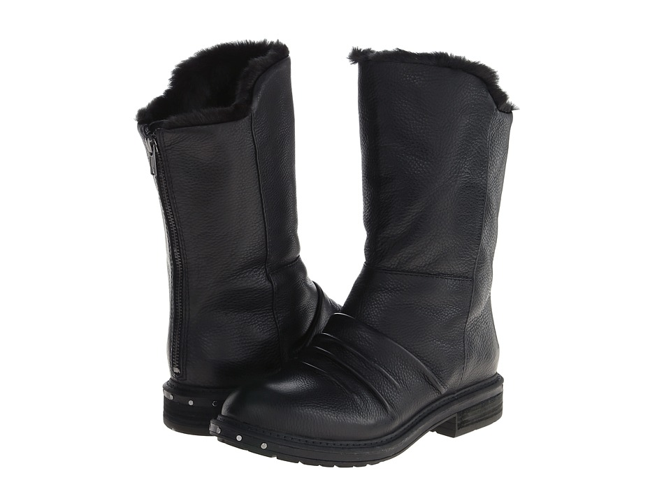 Naya - Rook (Black Leather/Fur Lining) Women