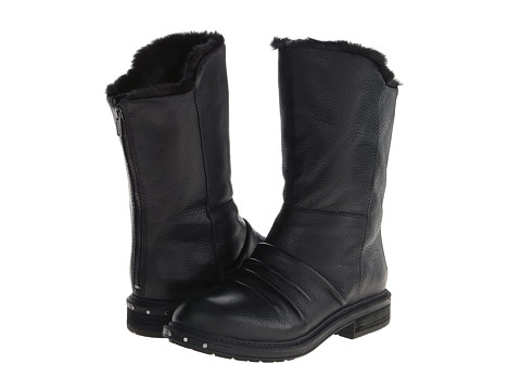 Naya - Rook (Black Leather/Fur Lining) Women's Pull-on Boots