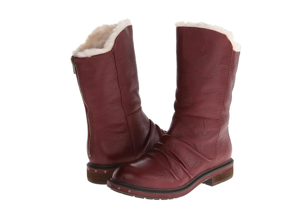 Naya - Rook (Classic Cordovan Leathr/Fur Lining) Women's Pull-on Boots