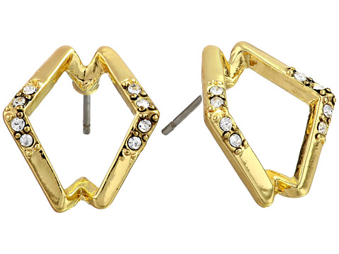 House of Harlow 1960 - Sound Waves Studs (Gold Tone) Earring