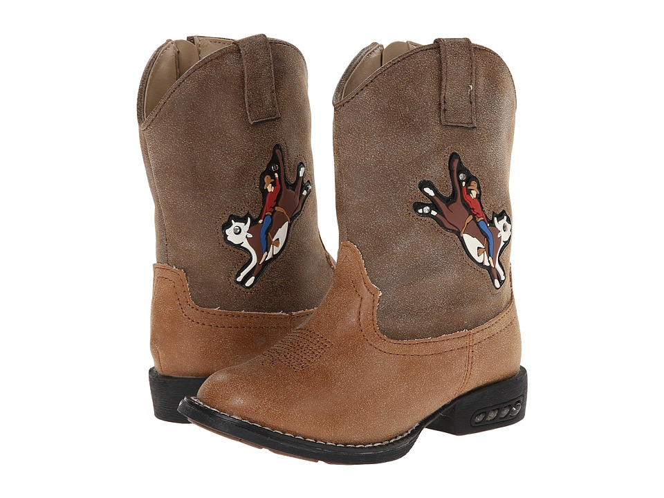 Roper Kids - Light Up Bullrider (Toddler) (Brown) Cowboy Boots