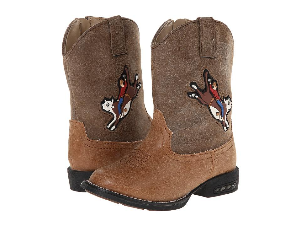 Roper Kids - Light Up Bullrider (Toddler) (Brown) Cowboy Boots