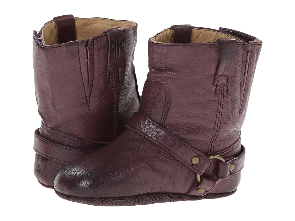 Frye Kids - Harness Bootie (Infant/Toddler) (Plum) Girls Shoes