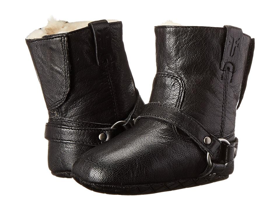 Frye Kids - Harness Bootie Shearling (Infant/Toddler) (Black) Kids Shoes