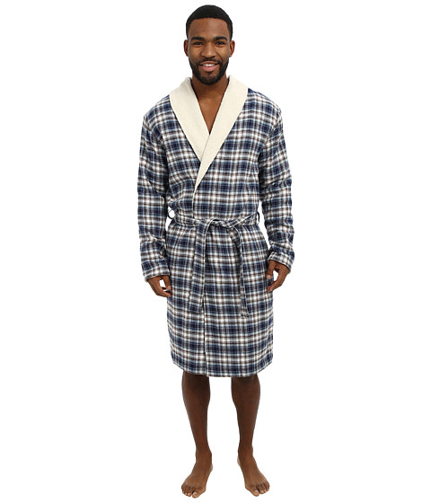 UGG - Bellamy Robe (Peacoat Plaid) Men's Robe