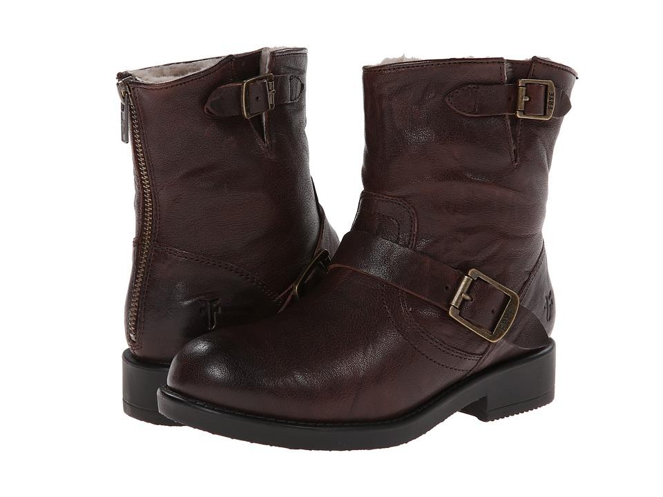 Frye Kids Valerie 6 Shearling (Little Kid/Big Kid) (Dark Brown) Girls Shoes