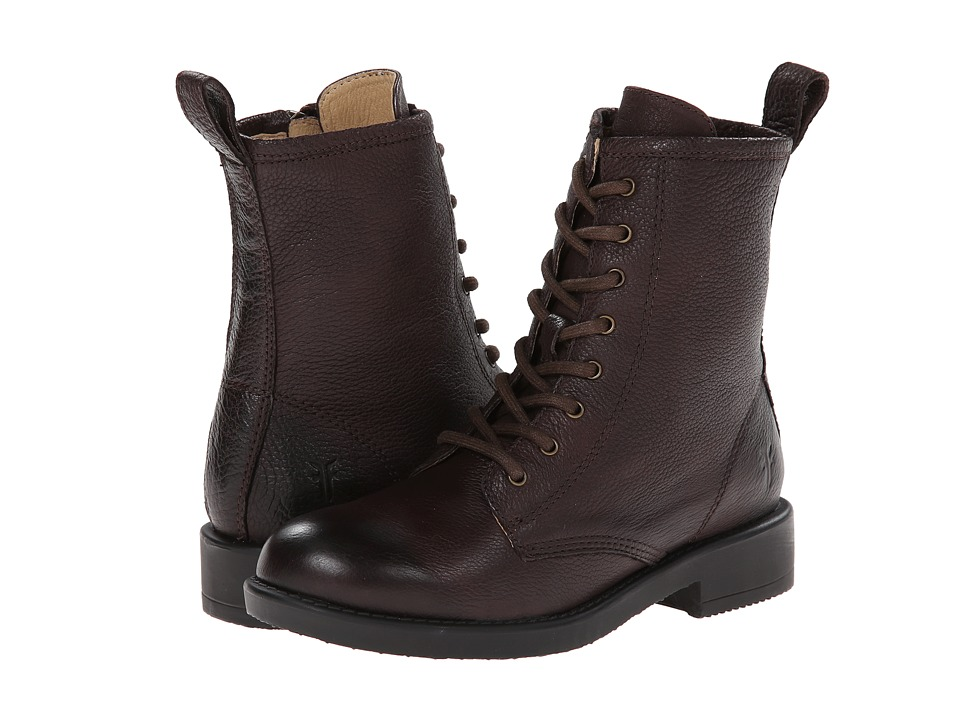 Frye Kids - Veronica Combat (Little Kid/Big Kid) (Dark Brown) Girls Shoes
