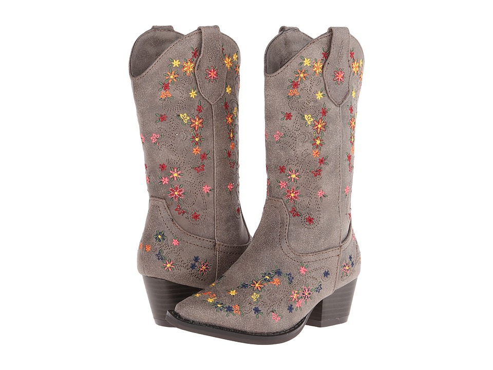 Roper Kids - Ditzy Floral Rockstar (Toddler/Little Kid) (Brown) Cowboy Boots