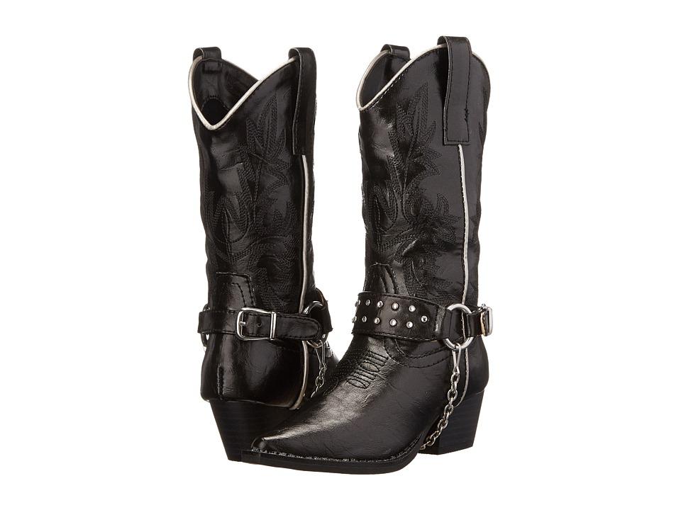 Roper Kids - Harness Rockstar (Toddler/Little Kid) (Black) Cowboy Boots