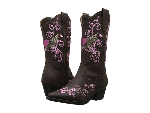 Roper Kids - Hearts and Wings Rockstar (Toddler/Little Kid) (Brown) Cowboy Boots