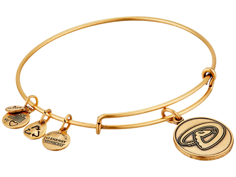 Alex and Ani - MLB Arizona Diamondbacks Charm Bangle (Rafaelian Gold Finish) Bracelet