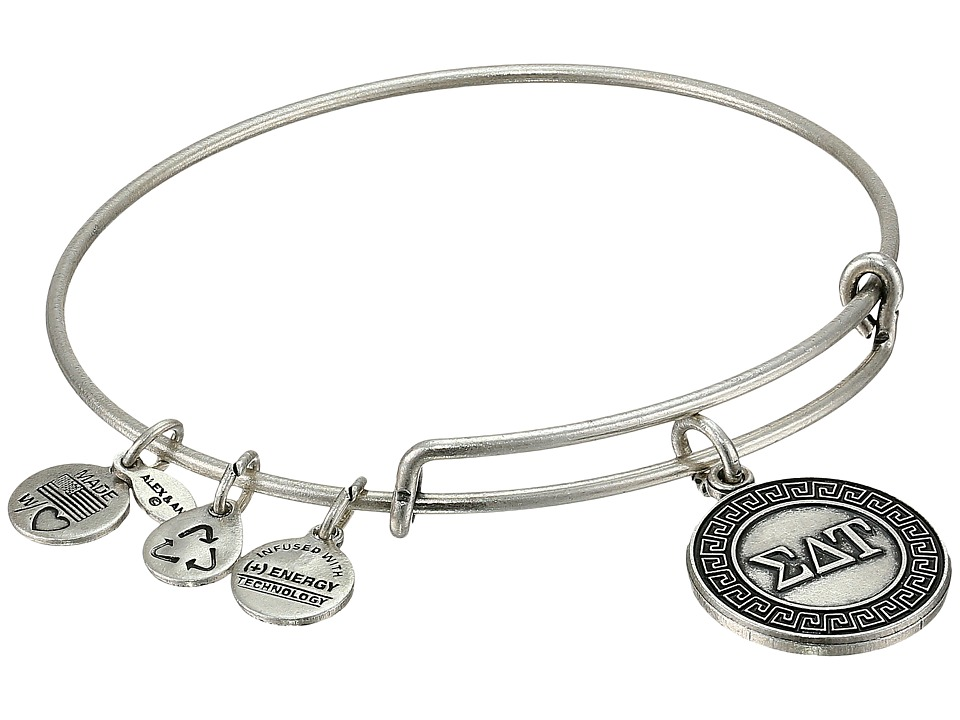 Alex and Ani - Sigma Delta Tau Charm Bangle (Rafaelian Silver Finish) Bracelet