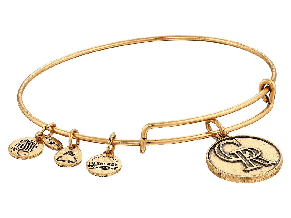 Alex and Ani - MLB Colorado Rockies Charm Bangle (Rafaelian Gold Finish) Bracelet