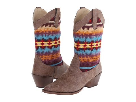 Roper Kids - Vintage Snip Toe with Sweater Shaft (Toddler/Little Kid) (Brown) Cowboy Boots