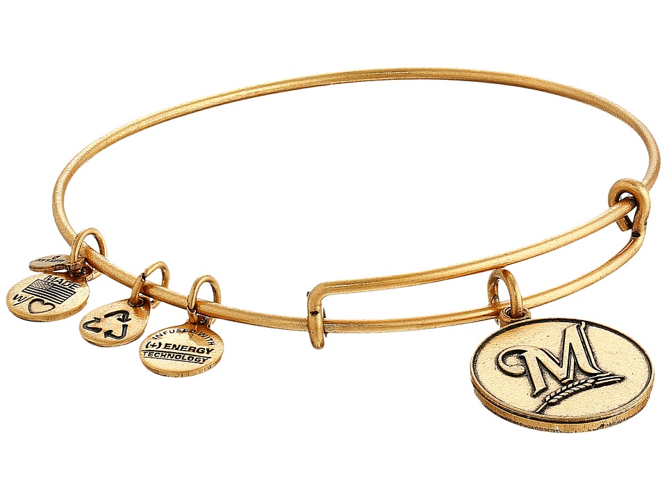Alex and Ani - MLB Milwaukee Brewers Charm Bangle (Rafaelian Gold Finish) Bracelet