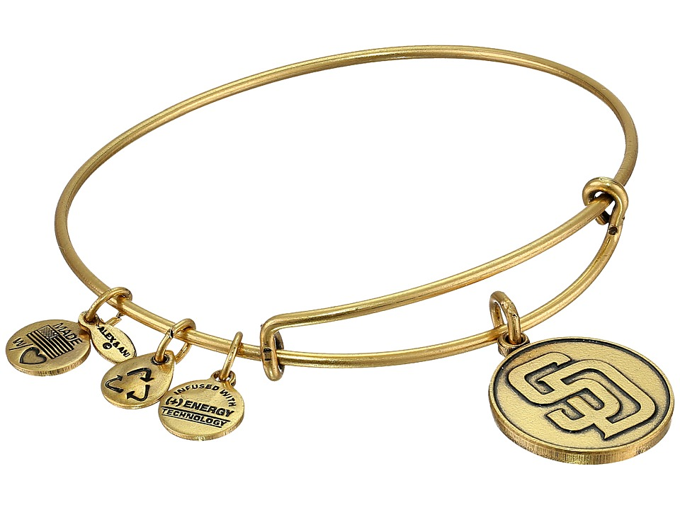 Alex and Ani - MLB San Diego Padres Charm Bangle (Rafaelian Gold Finish) Bracelet