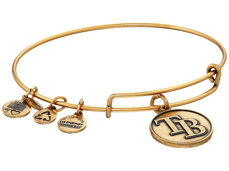 Alex and Ani - MLB Tampa Bay Rays Charm Bangle (Rafaelian Gold Finish) Bracelet