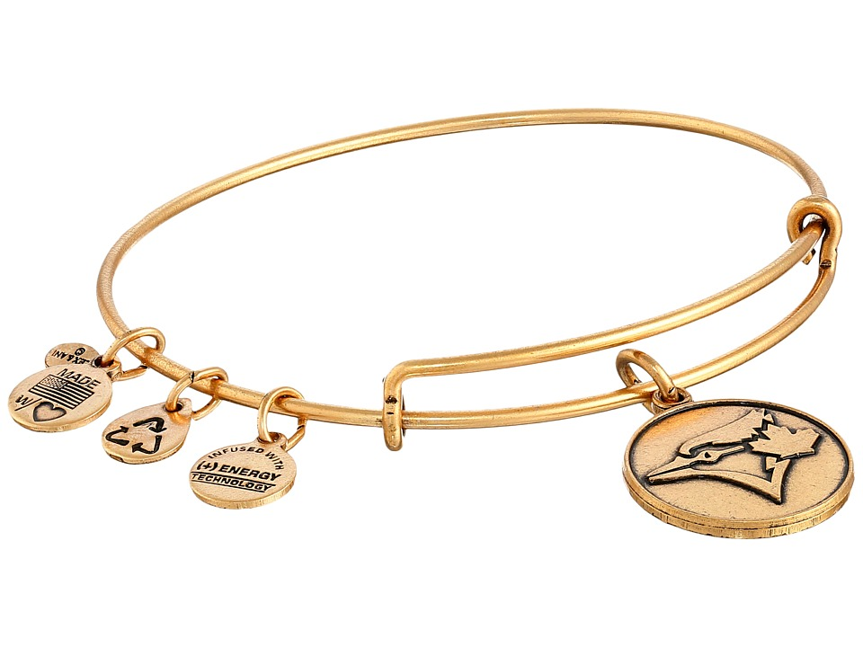 Alex and Ani - MLB Toronto Blue Jays Charm Bangle (Rafaelian Gold Finish) Bracelet