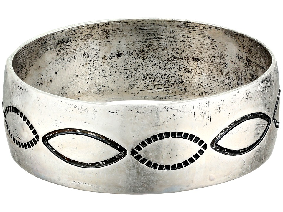Gypsy SOULE - Antiqued Etched Bangle (Silver) Bracelet