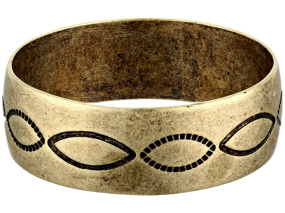 Gypsy SOULE - Antiqued Etched Bangle (Gold) Bracelet