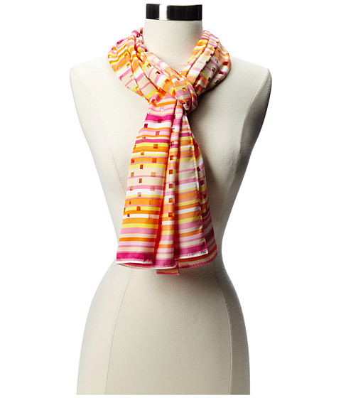 Echo Design - Laser Cut Stripe Scarf (Pink) Scarves