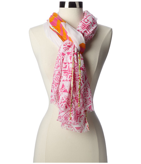 Echo Design - Mixed Geos w/ Embroidery (Fuchsia) Scarves