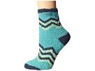 Life is good Lightweight Snuggle Crew Sock (Turquoise Blue)