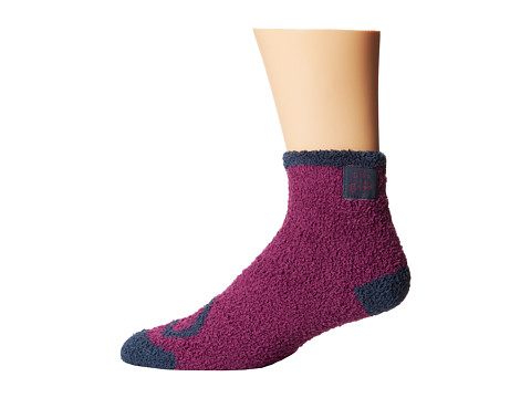 Life is good - Lightweight Snuggle Crew Sock (Perfect Plum) Women's Crew Cut Socks Shoes