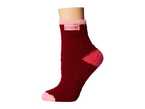Life is good - Lightweight Snuggle Crew Sock (Fresh Cranberry) Women