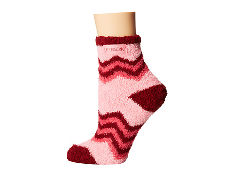 Life is good - Lightweight Snuggle Crew Sock (Blush Pink) Women