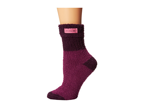 Life is good - Cuffed Snuggle Crew Sock (Perfect Plum) Women