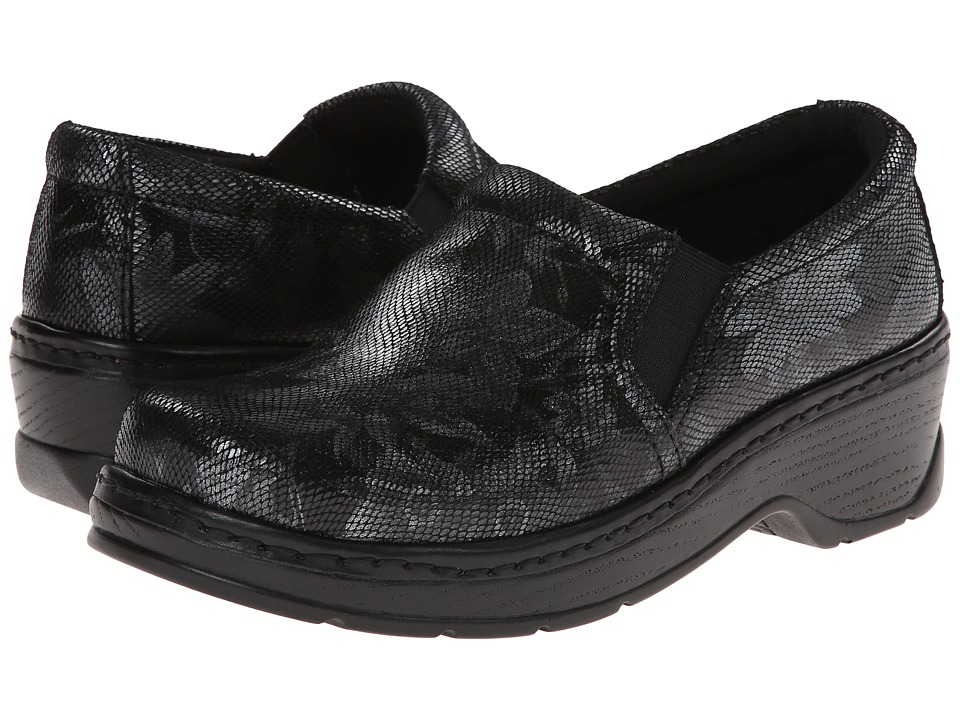 Klogs Footwear - Naples (Black/Grey Flower) Women's Clog Shoes