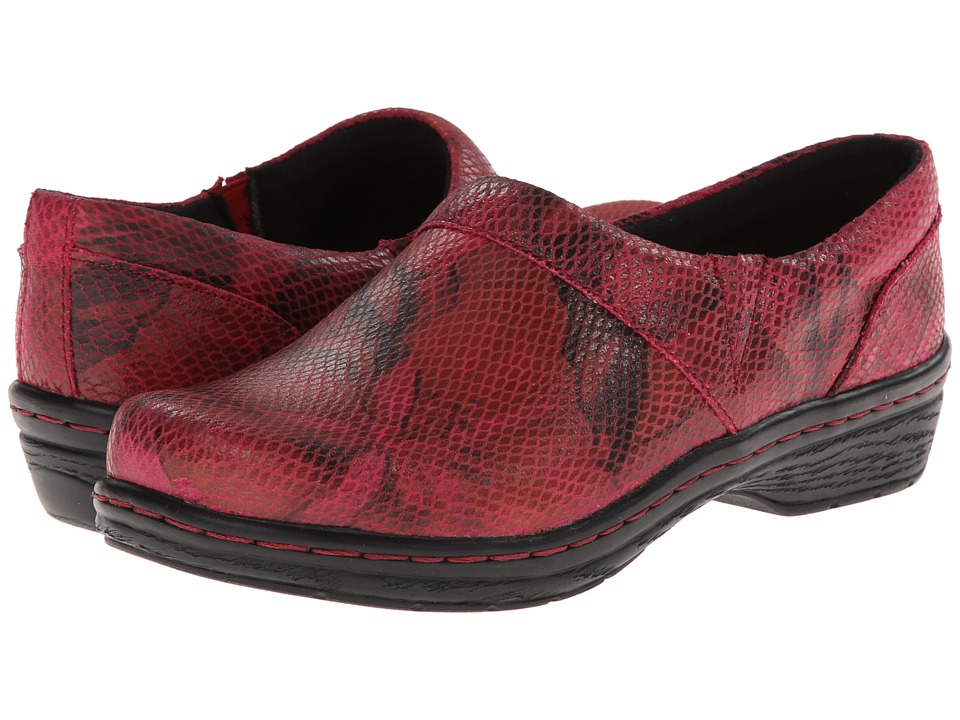 Klogs Footwear - Mission (Red/Black Flower) Women's Clog Shoes
