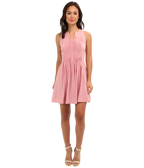 Rebecca Taylor - Sleeveless Pin Tuck Dress (Lush) Women's Dress