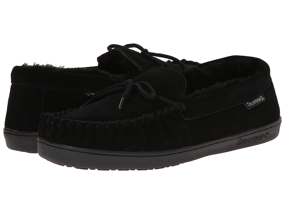 Bearpaw - Moc II (Black) Men's Slip on Shoes