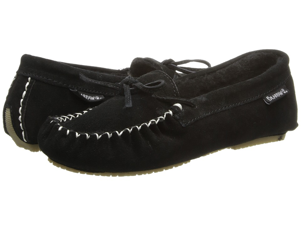 Bearpaw - Ashlynn (Black) Women's Slip on Shoes