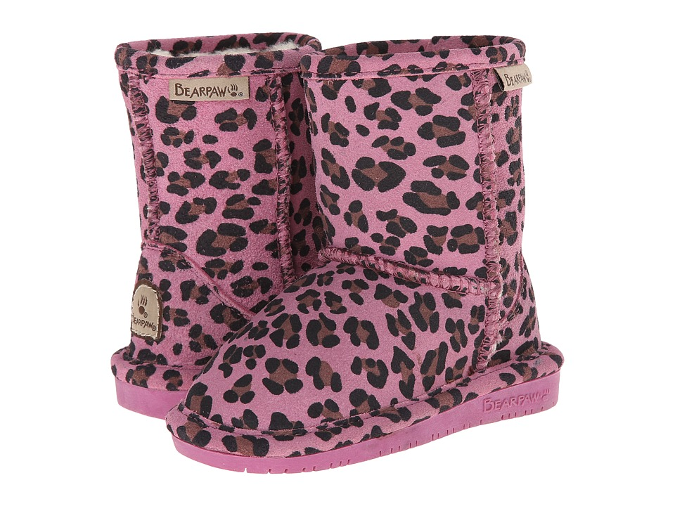 Bearpaw Kids - Emma (Toddler) (Pink Leopard) Girls Shoes