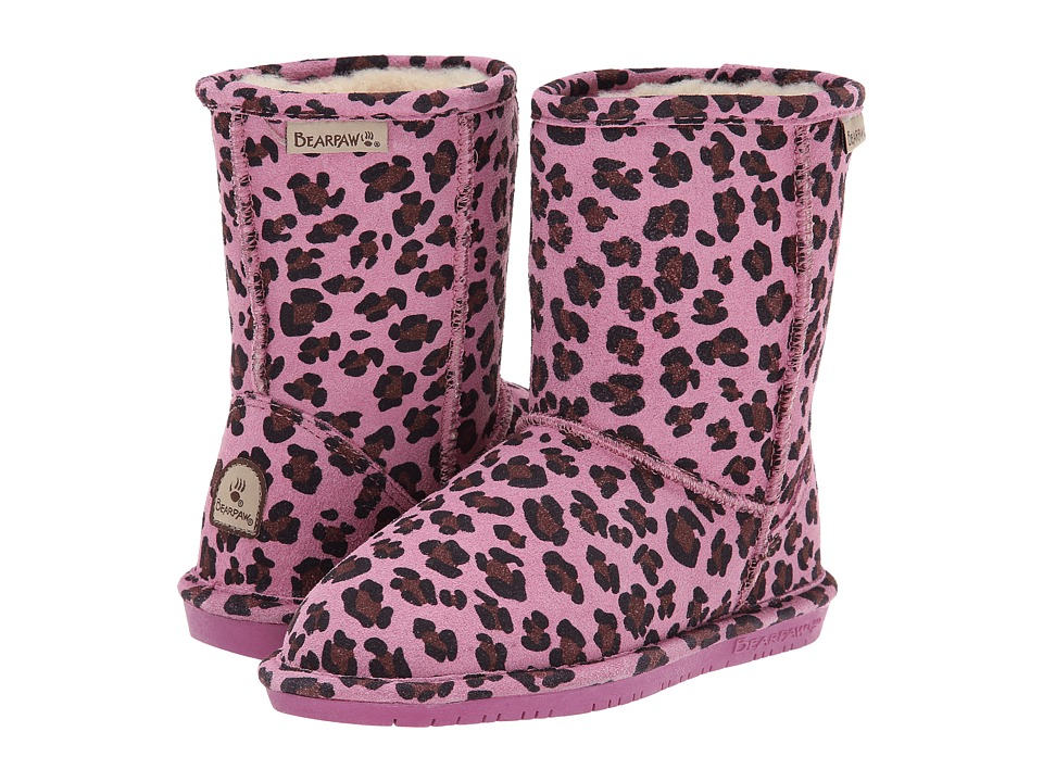 Bearpaw Kids - Emma (Little Kid/Big Kid) (Pink Leopard) Girls Shoes