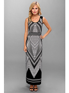 SALE! $57.99 - Save $50 on Calvin Klein Maxi Dress (White Black) Apparel - 46.31% OFF $108.00