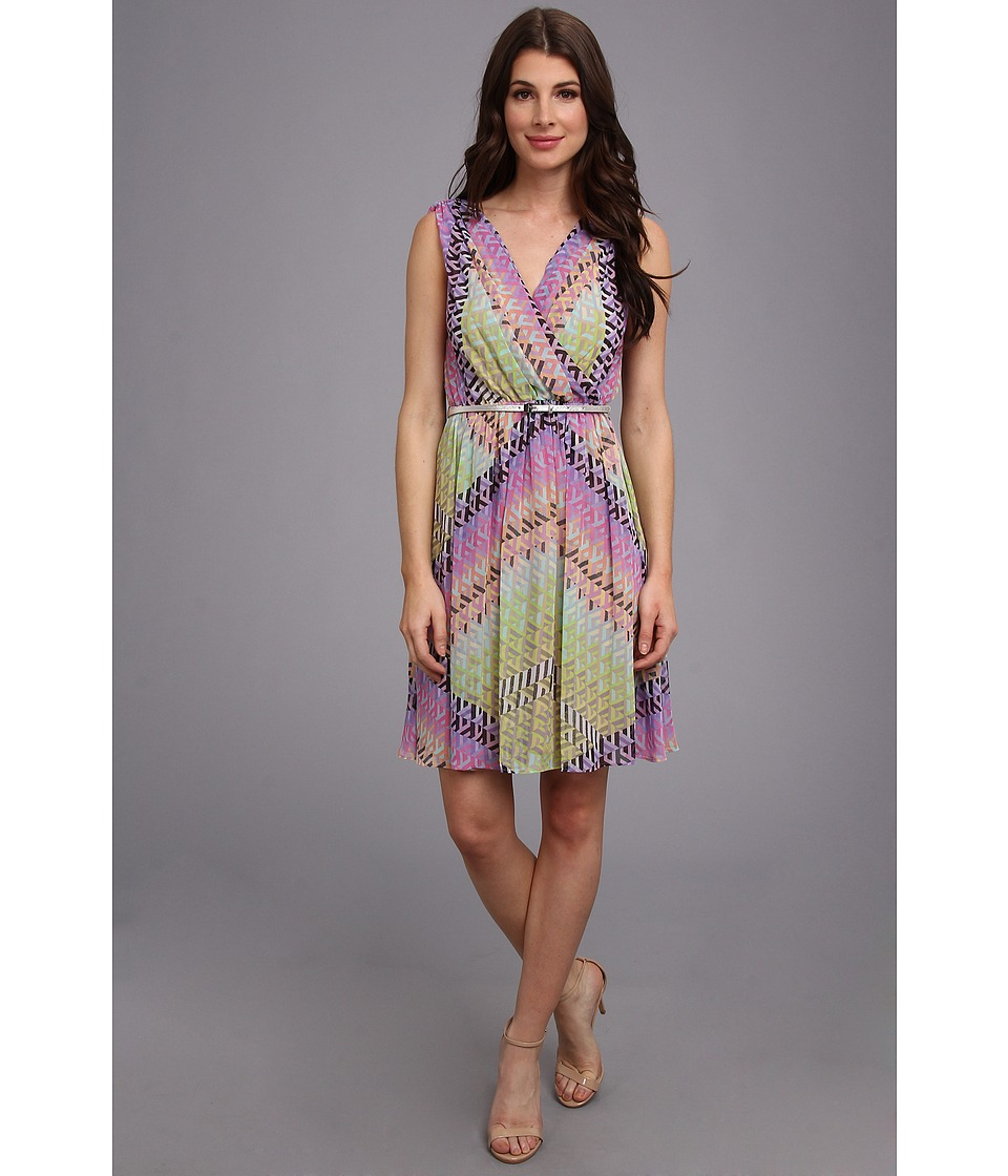 Calvin Klein Printed Chiffon Dress Womens Dress (Multi)