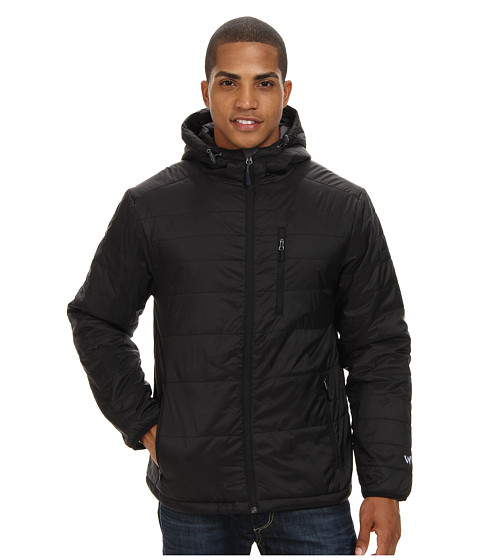 White Sierra - Peak Packable Hooded Jacket (Black) Men's Jacket