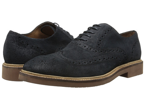 Gordon Rush - Morgan (Navy) Men's Lace Up Wing Tip Shoes