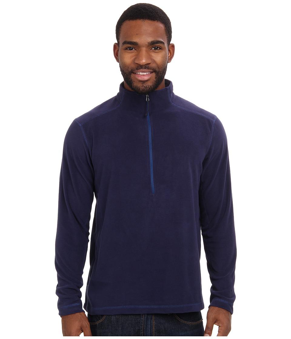 White Sierra - Microtek Fleece Quarter Zip (Navy) Men's Long Sleeve Pullover