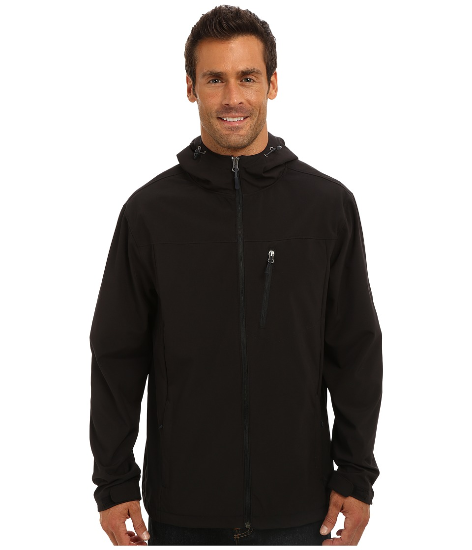 White Sierra - South Shore Hooded Softshell (Black) Men's Sweatshirt