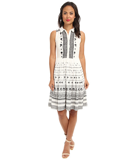 French Connection - Solstice Stitch 71BNO (Winter White/Black) Women's Dress