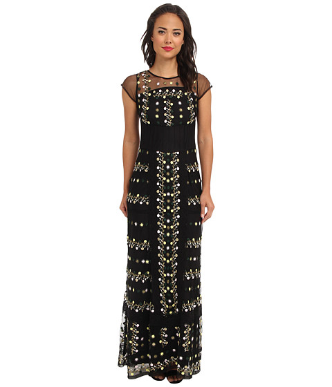 French Connection - Springfield Flower 71BPV (Black) Women's Dress